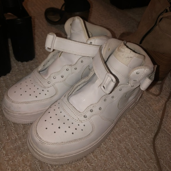 Nike Shoes White Air Force 1 High Tops Size 4 Kids 6 Womens